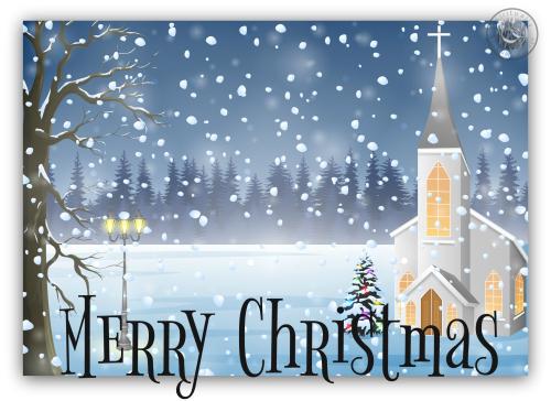 Church Merry Christmas