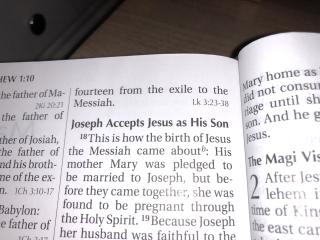 Joseph accepts Jesus
