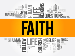 Faith Word Collage