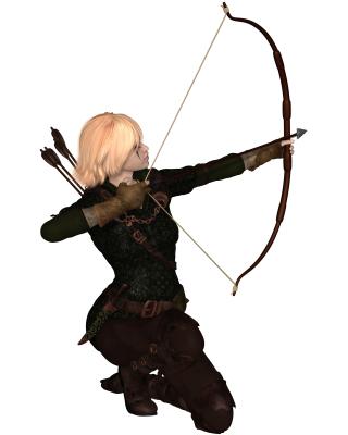 Warrior quiver arrows