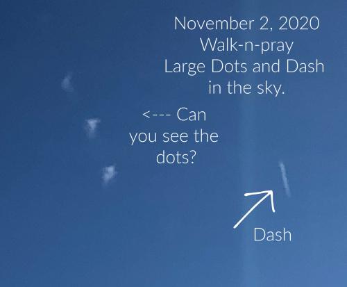 Three dots and a dash