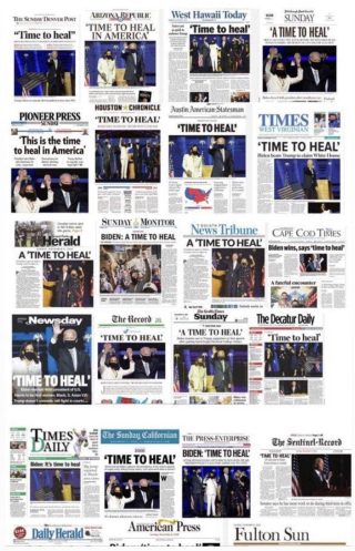 A Time To Heal News Print