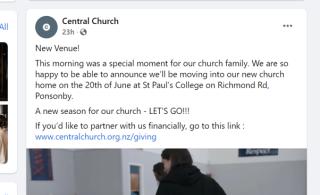 Central church new venue